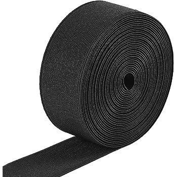 Schwarz 25 m Gummiband 40 mm Breit in Schwarz oder Weiss
