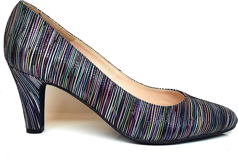 GENNIA VENCATHAI - Women Closed Toe Leather Pumps Stiletto Heel