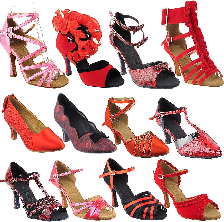 50 Shades RED Ballroom Latin Dance Shoes for Women: Ballroom Salsa Wedding Clubing Swing