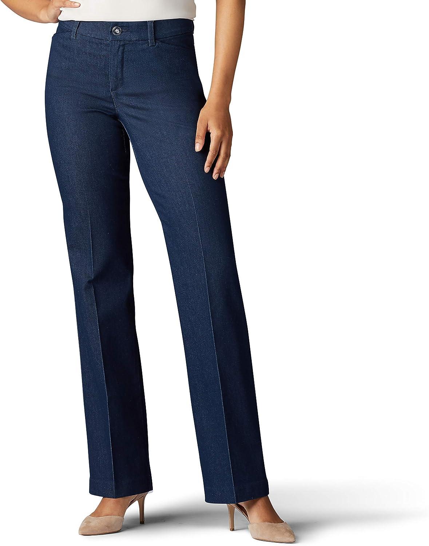 Lee Denver Mall Women's Flex Motion Fit Trouser High material Pant Regular