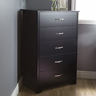 South Shore Fusion 5-Drawer Chest, Pure Black