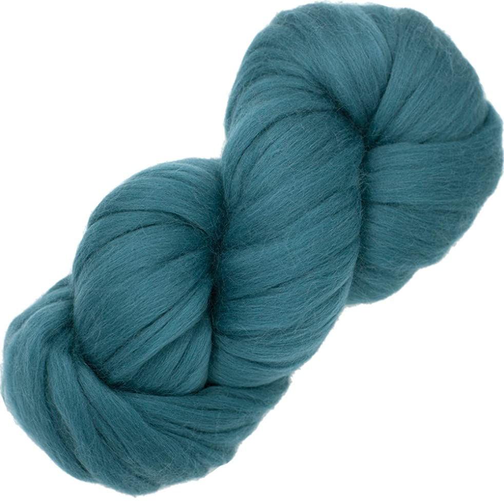 EASY SPINNING FIBER - Learn Spinning in a jiffy with Pre-Drafted Pencil Roving. Luxuriously Soft 100% Merino, Everest