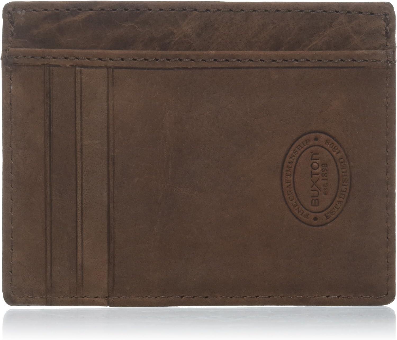 Buxton Men's Getaway Card Holder Wallet