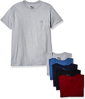 تي شيرت Hanes Mens Hanes Mens ComfortSoft بدون علامات، 6 قطع ملابس داخلية