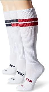 Starter Women's 3-Pack Knee-High Striped Socks, Amazon Exclusive
