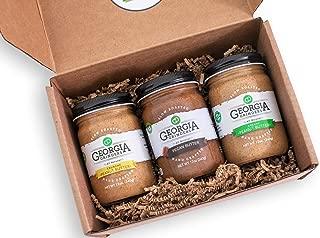 Georgia Grinders - Georgia Grown Gift Box Trio!! each gift box contains one 12oz jar of each: Pecan Butter, Creamy Peanut Butter, Crunchy Peanut Butter