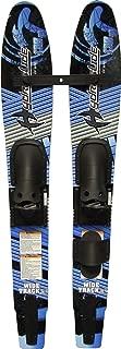 Hydroslide Junior Wide Track Intermediate Water Skis Combo Pair, Black, 54-Inch