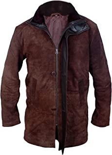 Flesh & Hide Genuine Cowhide Suede Leather Sheriff Walt Longmire Robert Taylor Coat