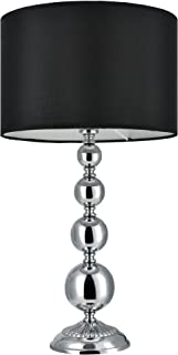 [Lux.pro] Lámpara de mesa moderna - negro - (E14) - metal, tela - lámpara para mesita de noche