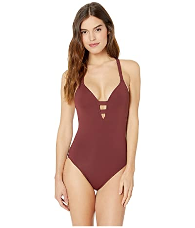Seafolly Active Long Line Fit Maillot (Plum) Women