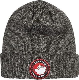 CANADA WEATHER GEAR Men`s Winter Beanie Hat, Heather Grey`