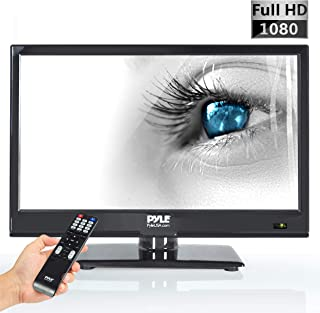 Pyle 15.6-Inch 1080p LED TV | Ultra HD TV | LED Hi Res Widescreen Monitor with HDMI Cable RCA Input | LED TV Monitor | Audio Streaming | Mac PC | Stereo Speakers | HD TV Wall Mount (PTVLED15)