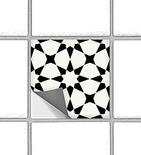 Classicism Moroccan Peel and Stick Tile Stickers for Kitchen Backsplash Bathroom Floor Wood Glass Metal Linoleum Waterproof Removable Eco Friendly Decals,Vinyl Murals- Pack of 6 (4