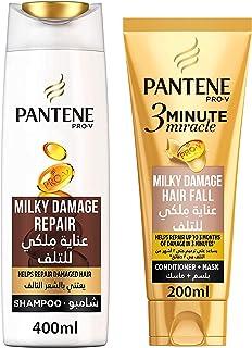 Pantene Pro-V Milky Damage Repair 3 Minute Miracle Conditioner, 200ml + Shampoo 400 ml