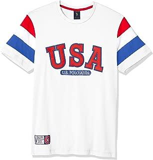 U.S. Polo Assn. Mens 11-4926-0H Striped Sleeves Crew Neck T-Shirt Short Sleeve T-Shirt