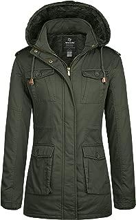 Wantdo Women's Warm Sherpa Lined Parka Coat with Removable Hood Jacket