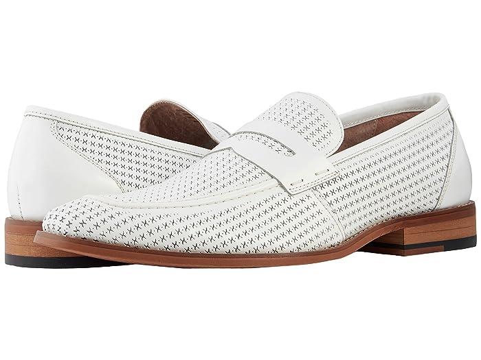 60s Mens Shoes | 70s Mens shoes – Platforms, Boots Stacy Adams Belfair Moc Toe Slip On Loafer White Mens Shoes $70.00 AT vintagedancer.com