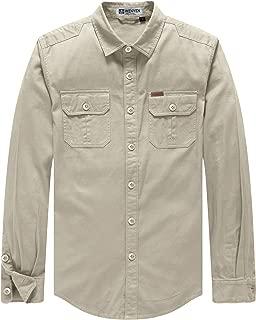 Men's Washed Canvas Work Shirt Jacket