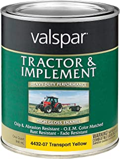 Valspar 4432-07 Transport Yellow Tractor and Implement Paint - 1 Quart