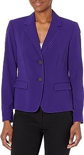 NINE WEST Womens Two Button Bi Stretch Notch Suit Jacket Jacket