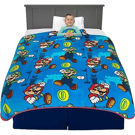 "62/"" x 90/"" Kids Bedding Super Soft Plush Throw Blanket Super Mario AB0518"
