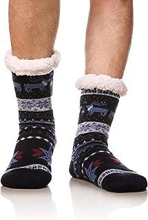 Men's Winter Thermal Fleece Lining Knit Slipper Socks Christmas Non Slip Socks