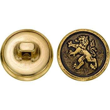 Antique Gold Size 30 Ligne 36-Pack C/&C Metal Products Corp C/&C Metal Products 5280 Chinese Lion Metal Button