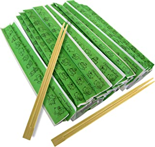 [250 Pack] Wooden Chopsticks 9 Inches - Disposable Premium Bamboo Chopstick with Animal Zodiac Wrapper, for Sushi, Ramen N...
