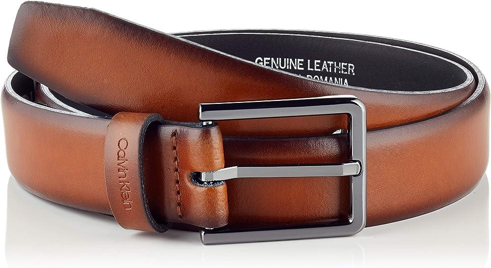 Calvin klein, cintura per uomo,in pelle 100% K50K504670