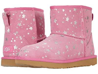 UGG Kids Classic Mini II Stars (Little Kid/Big Kid) (Wild Berry) Girls Shoes