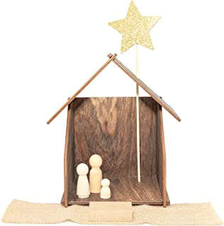 peg doll nativity scene