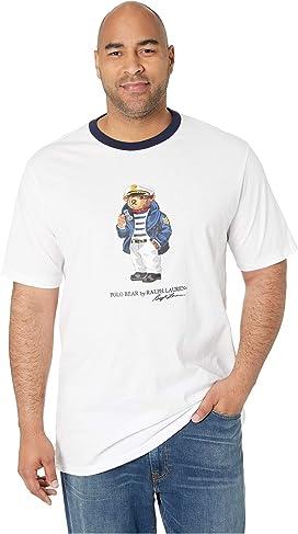 54cedb541 Big & Tall Short Sleeve Captain Polo Bear Crew T-Shirt. Polo Ralph Lauren  ...