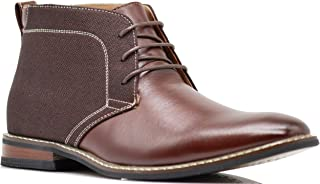 Titan05 Men Spectator Tweed Two Tone Chukka Ankle Oxfords Dress Boots Canvas Lace Up Dress Shoes
