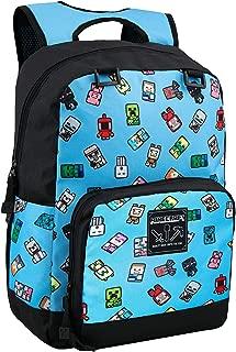 "JINX Minecraft Bobble Mobs Kids School Backpack, Blue, 17"""