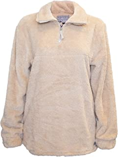Comfy Sherpa 1/4 Zip Pullover Jacket no Pockets, Beige, Small