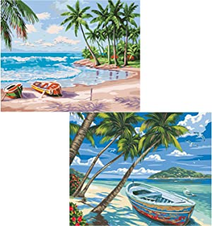 """(2 Pack) Fycert DIY Paint by Numbers Kits,Canvas Oil Painting Set for Adults Beginner, 20"""" L x 16"""" W Drawing Paintwork wit..."""