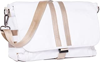 """E.C. Knox, Luxury Diaper Bags for Dads, """"The Coastal"""" Ellison Carryall, White"""