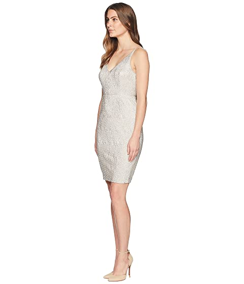 Calvin Klein Sparkle V-Neck Sheath Dress CD8B37JC Nude Offer Hot Sale Cheap Online Cheap Sale Low Shipping Fee e2Rgwrv