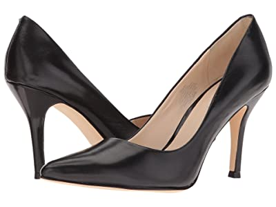 Nine West Flax Pump (Black Leather) High Heels