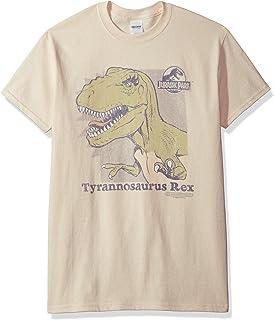 Trevco Jurassic Park - Camiseta de manga corta para hombre - Beige - Small