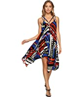 La Blanca - African Beat Handkerchief Dress Cover-Up
