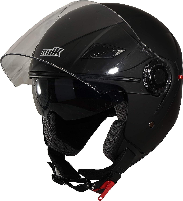 Unik Men CJ-03 Helmet Jet with Solar Black, SizeHelmetMatt Black, Small