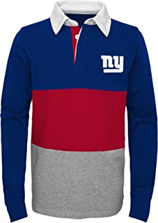 Outerstuff NFL New York Giants Youth Boys State of Mind Long Sleeve Rugby Top Dark Royal, Youth X-Large(18)