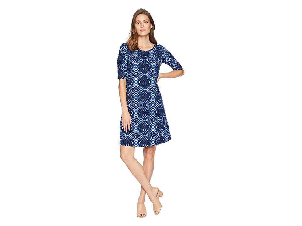 Tommy Bahama Indi-Coco Shift Dress (Ocean Deep) Women's Dress, Blue