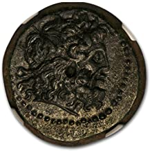 246 GR Ptolemaic Kingdom AE20 King Ptolemy III (246-222 BC) Ch AU* NGC Copper About Uncirculated NGC