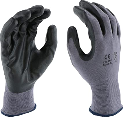 West Chester Posigrip 713snf Palm Dip Glove Pack Of 12 X Small Industrial Gloves Black Foam Nitrile Coating On Polyester Shell Knit Wrist Industrial Scientific Amazon Com