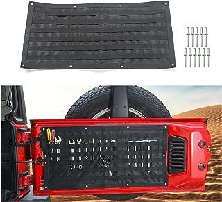 Voodonala 1pc Tailgate Tool Kit Canvas Bag Tool Organizer Pockets for 2007-2018 Jeep Wrangler JK JKU JL JLU