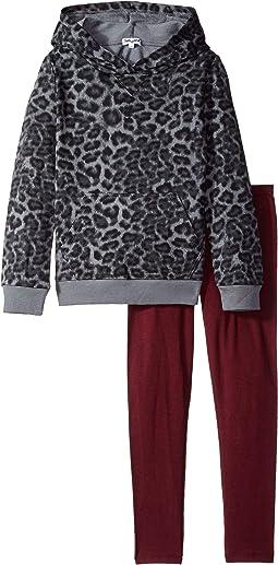 Leopard Print Hoodie Set (Toddler)