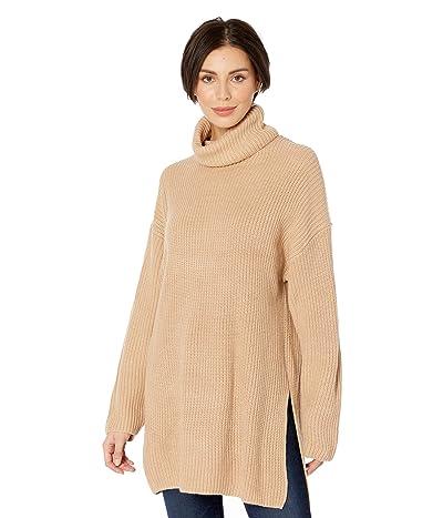 WAYF Culver Turtleneck Sweaterdress (Camel) Women