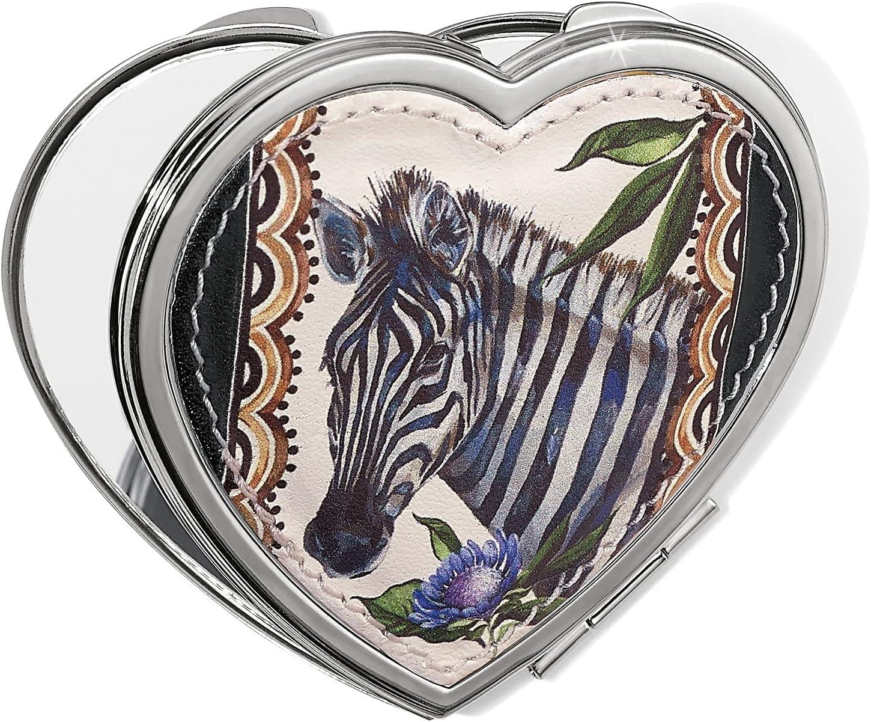 Brighton free shipping Africa Stories Zebra Mirror trust Heart Compact